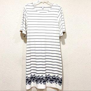 Charter Club White Short Bell Sleeve Midi Dress